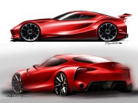 Toyota FT-1 Concept - Design Sketches - Car Body Design