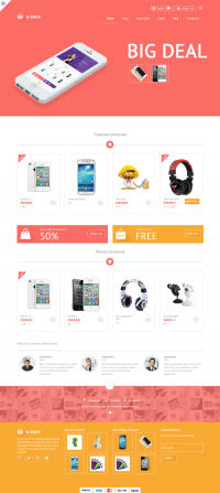 Gshop Advance E-commerce Template on