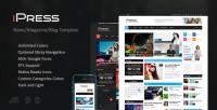 Site Templates - iPress - Responsive News/Magazine/Blog HTML5 | ThemeForest