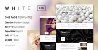 PSD Templates - WHITE - Creative One-Page PSD Template | ThemeForest
