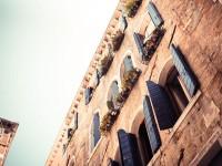 Old Blue Wooden Windows in Venice - Stock Photo - FreebiesXpress