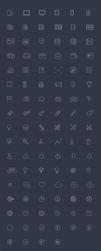 100 Free Line-Style Icons - FreebiesXpress