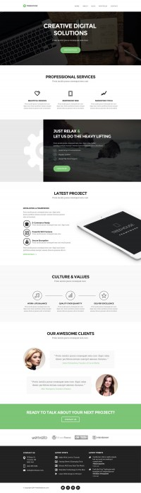 Treehouse - Free PSD Web Template - FreebiesXpress