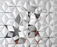 monochrome spaces. / 'Facet' space divider, 3form
