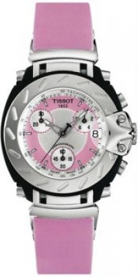 Women's T-Race Analog Chronograph Pink Rubber Strap [BDT0112171733100] - $313.30 : Luxury Brands Watches | Buy Luxury Brands Watches at Discount Prices, Luxurybrandswatches.com is a premier watch retailer that specializes in selling luxury and branded watches at exceptional prices. Shop for Invicta, Aquaswiss, Gucci, Tag Heuer & many more