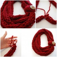 DIY Finger Knit Infinity Scarf | UsefulDIY.com