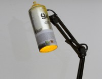 Spray Paint Architect Lamps on