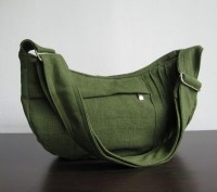 Green Hemp/Cotton Bag Smiley shape by tippythai on Etsy