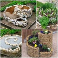 4 Step Guide Herb Spiral Garden DIY Projects | UsefulDIY.com
