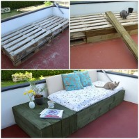 DIY Day Bed Pallet Project | UsefulDIY.com