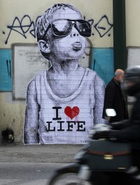 Street Art by STMTS in Athens, Greece | qué cosas oye