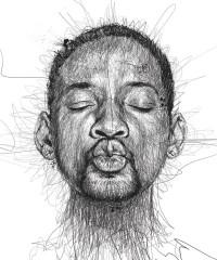 """Faces"": Celebrity Portraits Out of Spontaneous Pen Scribbles by Vince Low"