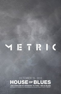Metric Concert Poster for their Texas show. ... | Illustration Affect…
