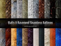 Wall and Pavement Seamless Patterns | Webdesigner Lab