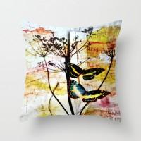 Wild & Free Throw Pillow by Ally Coxon | Society6