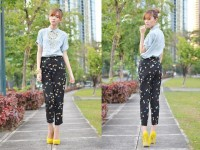 "House Of Luxe Long Necklace, Mia Casa Pearl Necklace, Sugarfree Shoes //""Pathway"" by Camille Co // LOOKBOOK.nu"