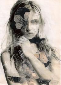 mixed media portrait by Annemiek Tichelaar | Art & photography