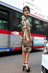 "Dolce & Gabbana Dress, Chanel Sunglasses, Prada Shoes //""Tokyo sparkles"" by Denni . // LOOKBOOK.nu"