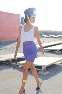 "Vintage Hat And Leather Skirt, American Apparel Tank, Stella Mc Cartney Shoes //""Flight facilities"" by Denni . // LOOKBOOK.nu"