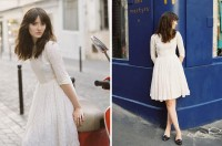 "Vintage Dress, Topshop Loafers //""033"" by Clementine Levy // LOOKBOOK.nu"