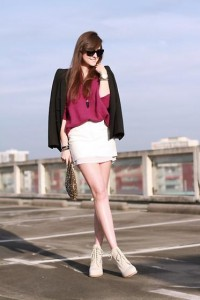 """Hm Trend Leather Skirt, Zara Sequin Bag, Alexander Wang Boots, Celine Sunglasses //""""ONE OF A KIND"""" by Andy T. // LOOKBOOK.nu"""