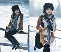"Mango Scarf, Bag, Boots, Seconhand Shirt, Random Shop Hat, Coat //""Gets colder day by day"" by Kasia Gorol // LOOKBOOK.nu"