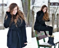 "Zara Coat, Primark Earmuffs, Sorel Snow Boots //""Earmuffs"" by Kasia Gorol // LOOKBOOK.nu"