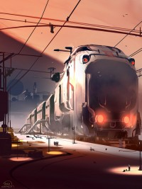 Gashetka | Transportation Design | sparth: really really big train! 30 minutes of...