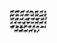 Horses Silhouettes Vector File - VECTOR ELEMENTS - Animals : LogoWik.com