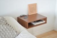 Floating end table set nightstands solid walnut bedroom bedside ($990.00) - Svpply