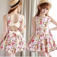 shego shopping mall — [GRLHX160129] NICE FLOWER BOWKNOT DRESS