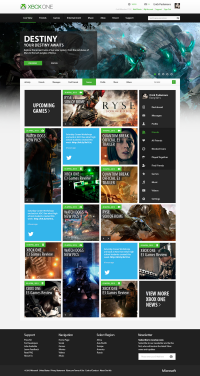 Xbox.com Main Page Re-Design on