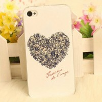shego shopping mall — [grzxy6100057]Sweet Romantic Floral Heart Print Phone Case for iPhone4/4s/5/5s