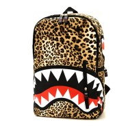 Amazon.com: Latest Leopard Cartoon Teeth Print Backpack: Clothing