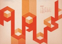 Designspiration — Hard to Read Calendar - 2010 on Typography Served