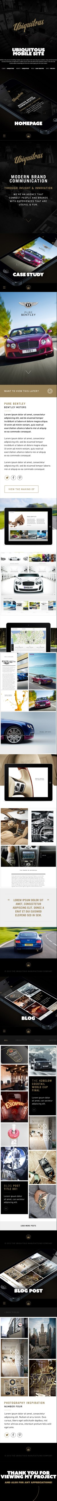 Web Design / Ubiquitous Mobile Site on Behance — Designspiration