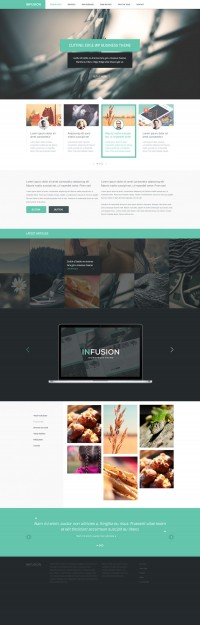 Infusion - Free Website Template - FreebiesXpress