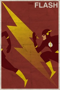 Vintage-Style DC Character Posters