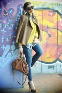 "Burnt Orange Zara Jackets, Blue Zara Jeans, Carrot Orange Miu Miu Bags | ""Yellow!!!"" by ncolettausa - Chictopia"