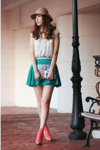 "Teal Chicwish Skirts, Ivory Chicwish Vests | ""style yourself giveaway"" by mayo_wo - Chictopia"