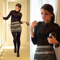 "Blanco Skirt, Blanco Clutch, Blanco Booties, Sickwatona Shirt //""The perfect skirt"" by Alexandra Per // LOOKBOOK.nu"