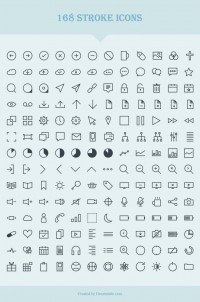 168 Vector Stroke Icons - FreebiesXpress