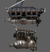 Mercedes D Iii Engine by Alexandr Novitskiy - 3D Artist