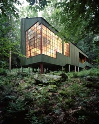 Peter Bohlin – Forest House (house for the architect's parents), West Cornwall CT 1975 | Inspiration DE