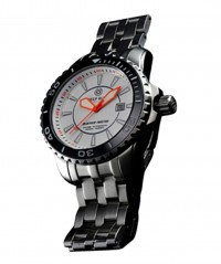 DEEP BLUE BLUETECH MASTER 500 WATCH AUTO BLACK BEZEL WHITE DIAL SWISS ETA 2824-2 - BLUETECH MASTER 500 SWISS - DEEP BLUE