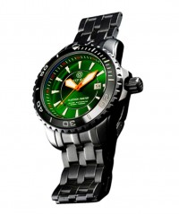 DEEP BLUE BLUETECH MASTER 500 WATCH AUTO GREEN BEZEL GREEN DIAL SWISS ETA 2824-2 - BLUETECH MASTER 500 SWISS - DEEP BLUE
