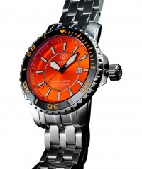 DEEP BLUE BLUETECH MASTER 500 WATCH AUTO BLACK BEZEL ORANGE DIAL SWISS ETA 2824 - BLUETECH MASTER 500 SWISS - DEEP BLUE