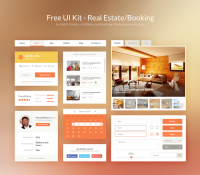 Free UI Kit PSD – Real Estate/Booking | Inspiration DE