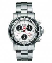 CX SWISS MILITARY DIVERS SW1 WATCH SWISS ETA CHRONO 1000m/3300ft WR SILVER - DIVER'S SW 1 - CX SWISS MILITARY