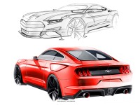 Ford Mustang Design Sketches by Kemal Curic - Car Body Design